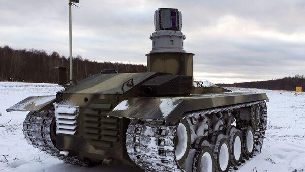 La plataforma de orugas del robot ruso de combate Nerejta - Sputnik Mundo
