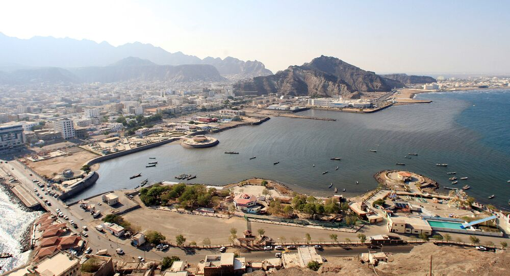 La ciudad de Adén, Yemen