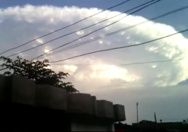 Una nube 'apocalíptica' se cierne sobre el cielo de Colombia