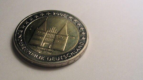 Moneda de euro alemana - Sputnik Mundo