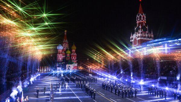 Ceremonia de clausura del Festival Internacional de Música Militar Spasskaya Bashnya - Sputnik Mundo