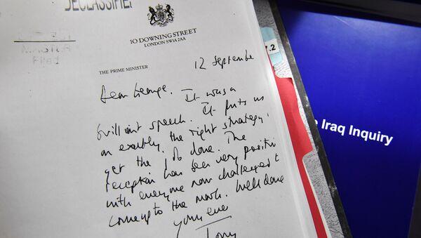 Carta de Blair a Bush, presentada en el informe de Chilcot - Sputnik Mundo