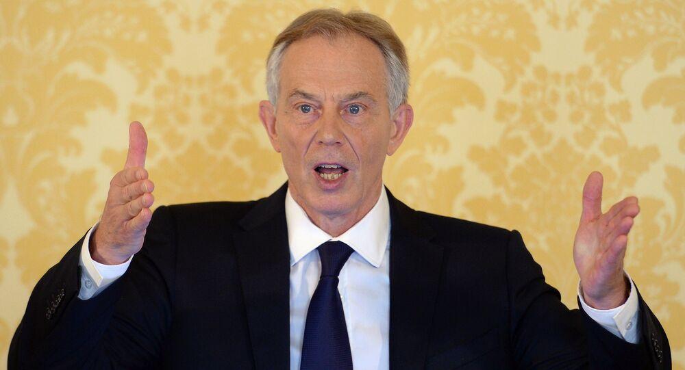 Tony Blair, ex primer ministro de Gran Bretaña (archivo)