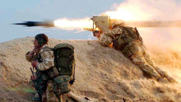 Soldados británicos in Irak (archivo) - Sputnik Mundo