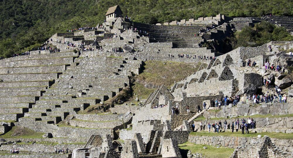 Las ruinas de la antigua ciudad de Machu Picchu