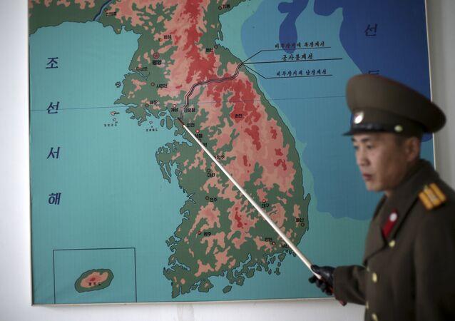 El mapa de la península de Corea (imagen referencial)