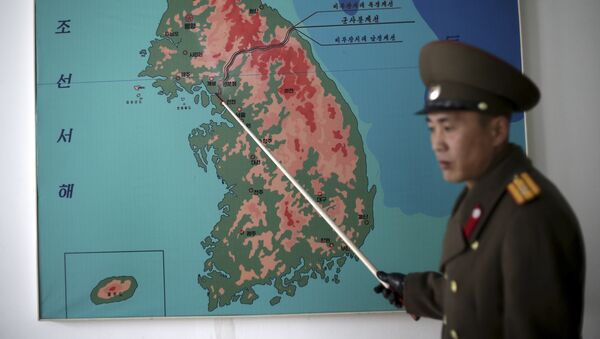 El mapa de la península de Corea - Sputnik Mundo