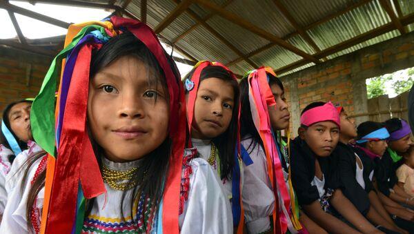 Niñas y niños quechua. Archivo. - Sputnik Mundo