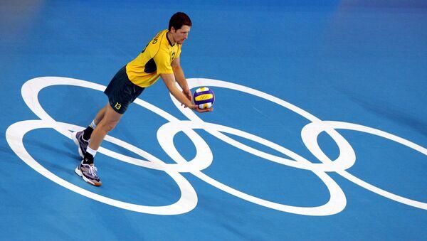 El voleibolista brasileño, Gustavo Endres, durante los JJOO de Atenas 2004 - Sputnik Mundo