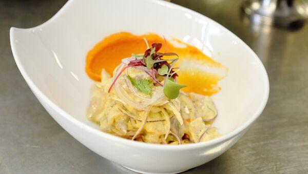 Uno de los platos peruanos ofrecidos en el Festival Gastronómico - Sputnik Mundo