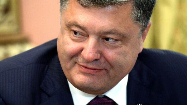Presidente de Ucrania Piotr Poroshenko - Sputnik Mundo