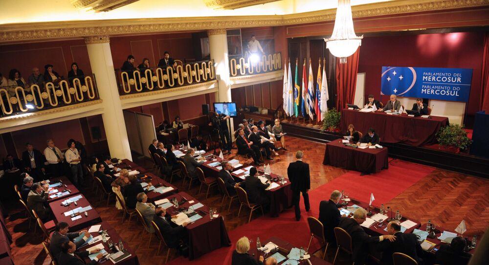 Una sesión plenaria del Parlasur