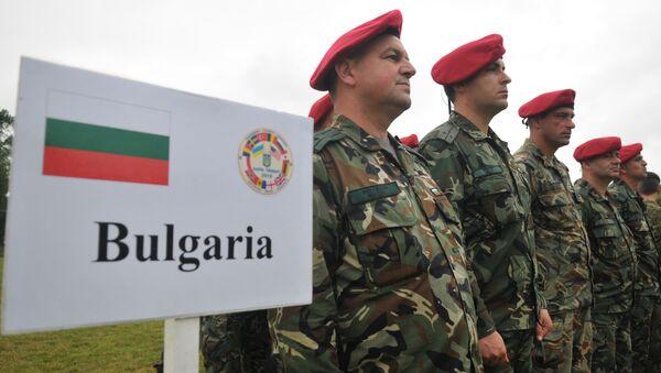 Soldados búlgaros durante la operación Rapid Trident 2016 en Ucrania - Sputnik Mundo