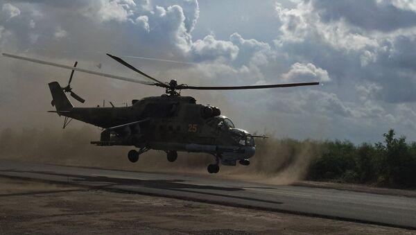 Un helicóptero ruso Mi-24 (archivo) - Sputnik Mundo