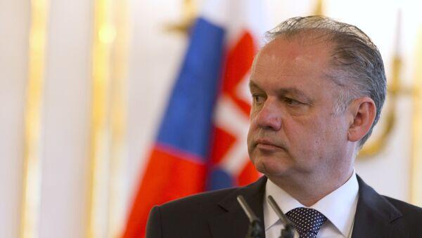 Andrej Kiska, presidente eslovaco - Sputnik Mundo