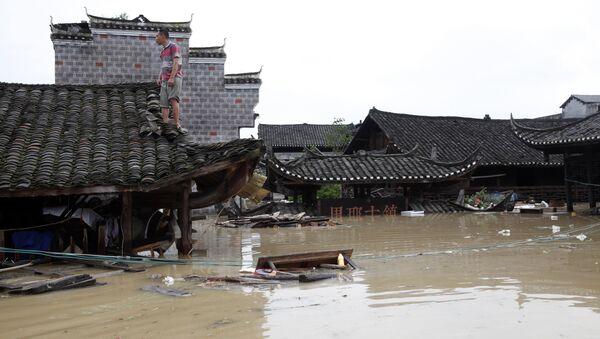 Inundación en la provincia china de Hunan - Sputnik Mundo