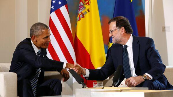 Barack Obama y Mariano Rajoy - Sputnik Mundo