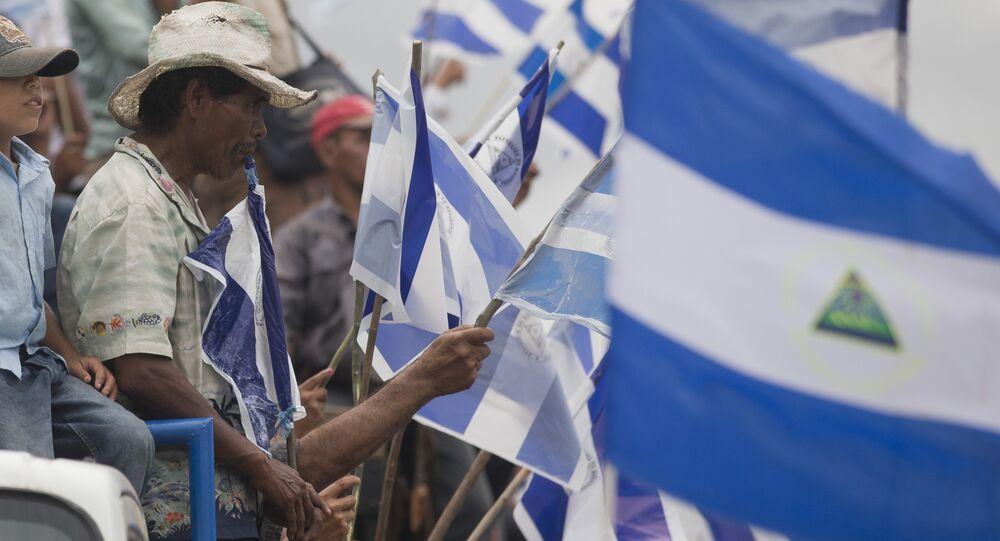 Una protesta contra la construcción del Canal de Nicaragua (archivo)