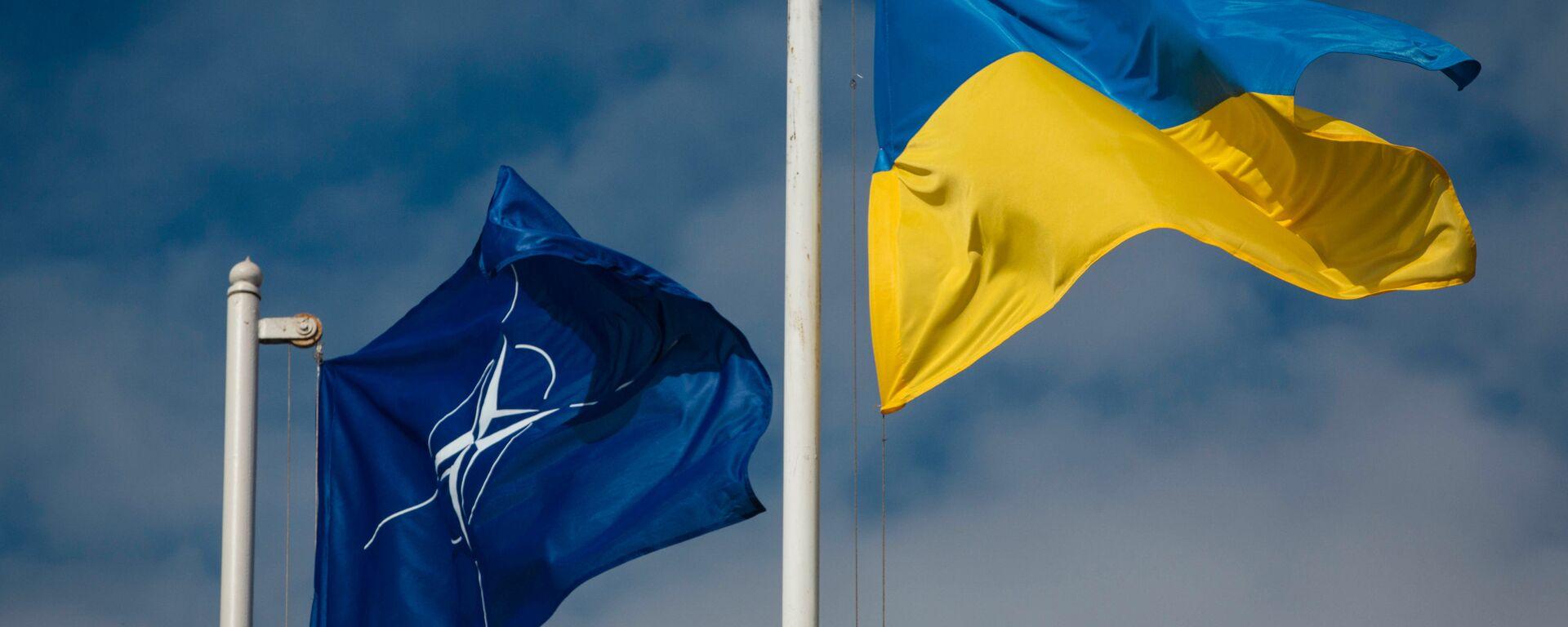 Las banderas de la OTAN y Ucrania - Sputnik Mundo, 1920, 24.05.2021