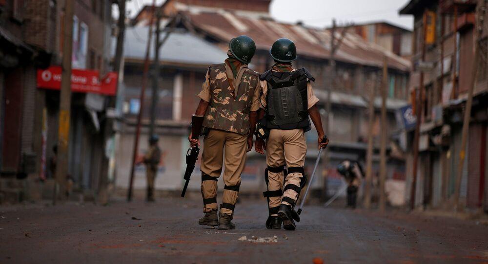 Policías de la India en Cachemira (archivo)