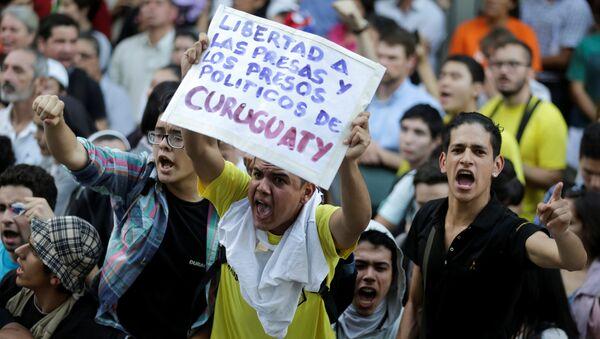 Una manifestación en Asunción, Paraguay - Sputnik Mundo