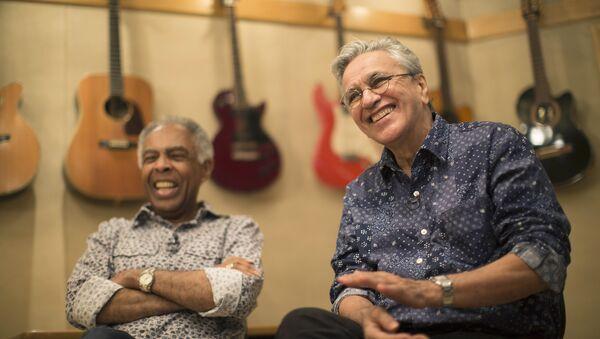 Gilberto Gil y Caetano Veloso, cantantes brasileños - Sputnik Mundo