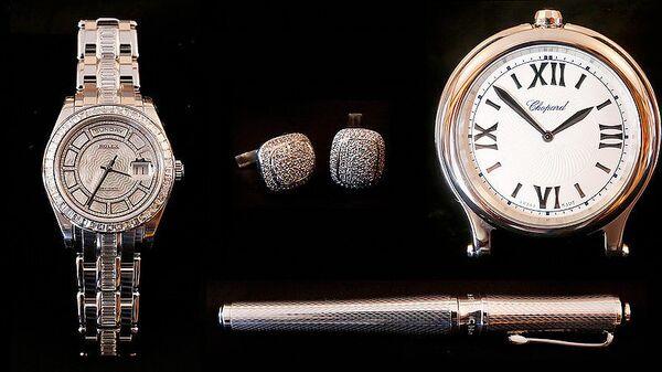 Set de joyas personales de Oro Blanco, Platino y Acero - Sputnik Mundo