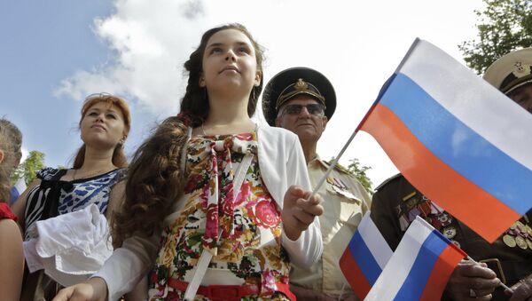La población de Crimea (archivo) - Sputnik Mundo
