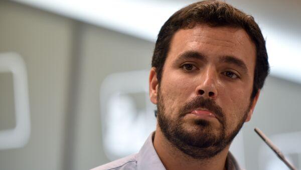 Alberto Garzón, líder de Izquierda Unida - Sputnik Mundo