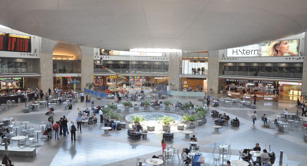 El aeropuerto internacional Ben Gurión en Tel-Aviv