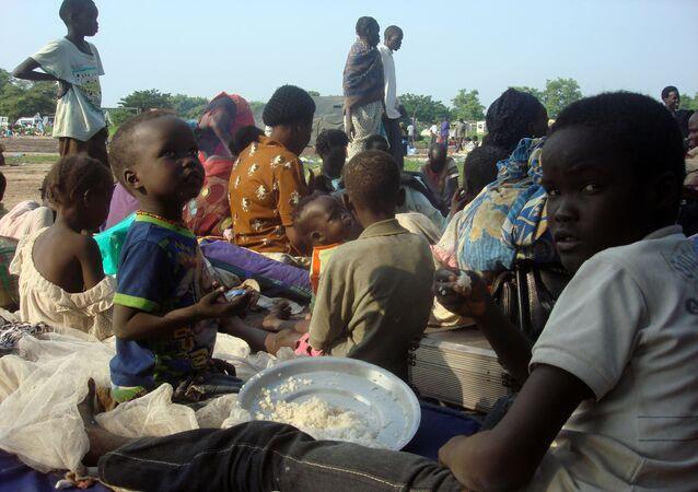 Familias desplazadas en Sudan del Sur
