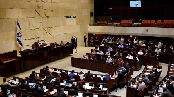 A general view shows the plenum during a session at the Knesset, the Israeli parliament, in Jerusalem July 11, 2016. - Sputnik Mundo