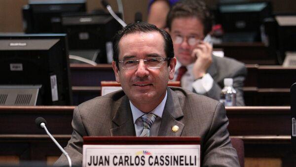 Juan Carlos Cassinelli, ministro de Comercio Exterior de Ecuador - Sputnik Mundo