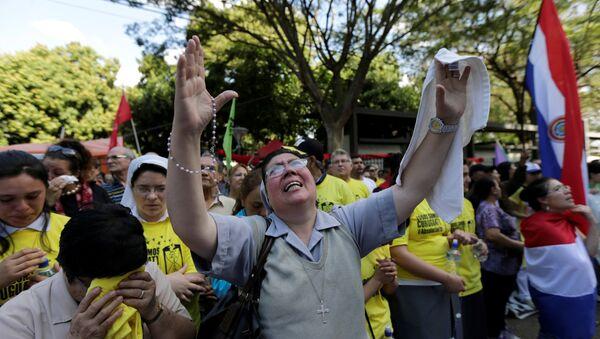 Una manifestación en Asunción, Paraguay (archivo) - Sputnik Mundo