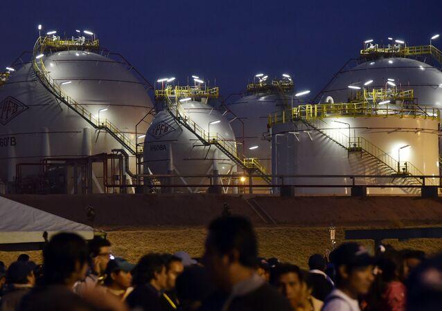 Una planta de gas (archivo)