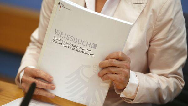 El libro blanco de defensa de Alemania - Sputnik Mundo