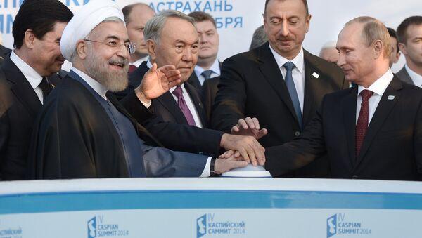 Los líderes del grupo de los cinco Estados ribereños del Caspio (archivo) - Sputnik Mundo