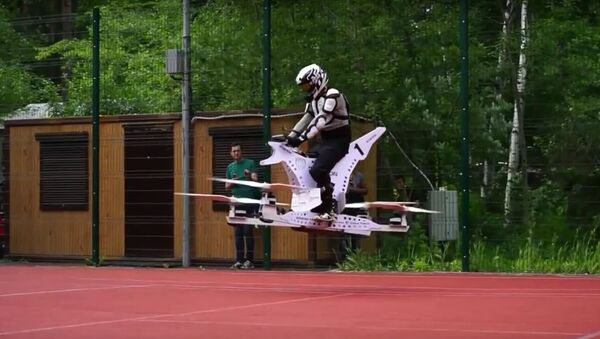 La motocicleta voladora Scorpion I - Sputnik Mundo