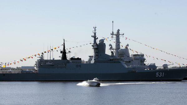 La corbeta rusa Soobrazitelniy en el Salón Naval Internacional - Sputnik Mundo