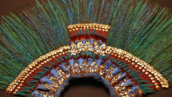 El penacho de Moctezuma II, el Museo de Etnología de Viena, Austria - Sputnik Mundo