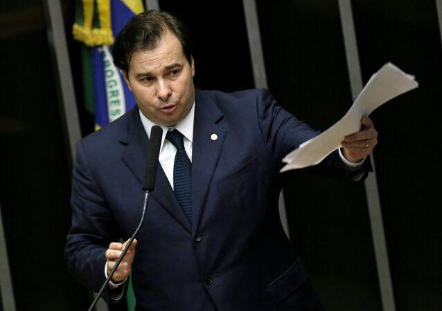 Rodrigo Maia, presidente de la Cámara de Diputados de Brasil
