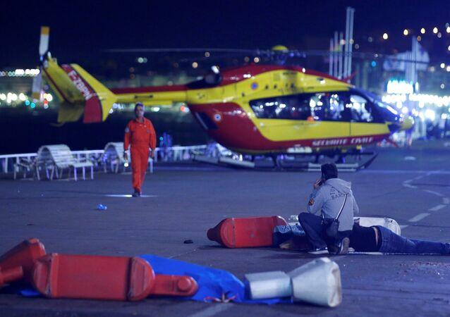 Situación tras el ataque con un camión en Niza