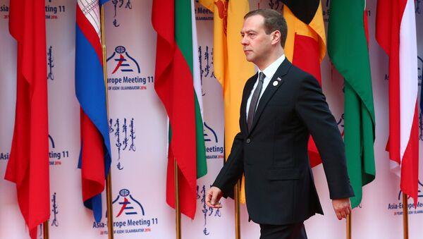 El primer ministro ruso, Dmitri Medvédev, en el foro Asia-Europa - Sputnik Mundo