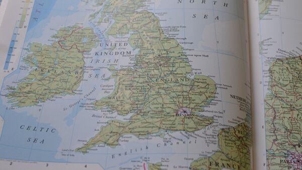 El mapa del Reino Unido - Sputnik Mundo