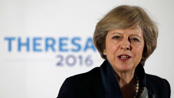 Theresa May, primera ministra británica (archivo) - Sputnik Mundo