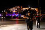 Policías cerca de la sede del Estado mayor general de Turquía