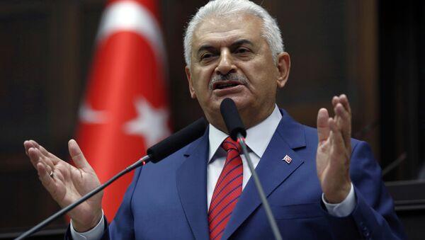 El primer ministro de Turquía, Binali Yildirim (archivo) - Sputnik Mundo