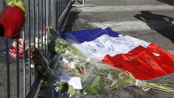El homenaje a las víctimas del atentado de Niza - Sputnik Mundo