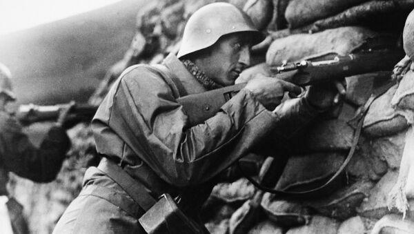 Soldado español leal al gobierno republicano, Bilbao 1937 - Sputnik Mundo