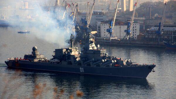 El crucero lanzamisiles Variag de la Flota del Pacífico Rusa - Sputnik Mundo